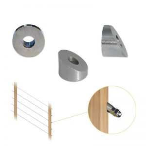30 degree beveled washer for cable stairs railing
